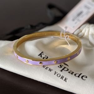 ♠️KATE SPADE♠️ Spot the Spade Enamel Bangle Purple